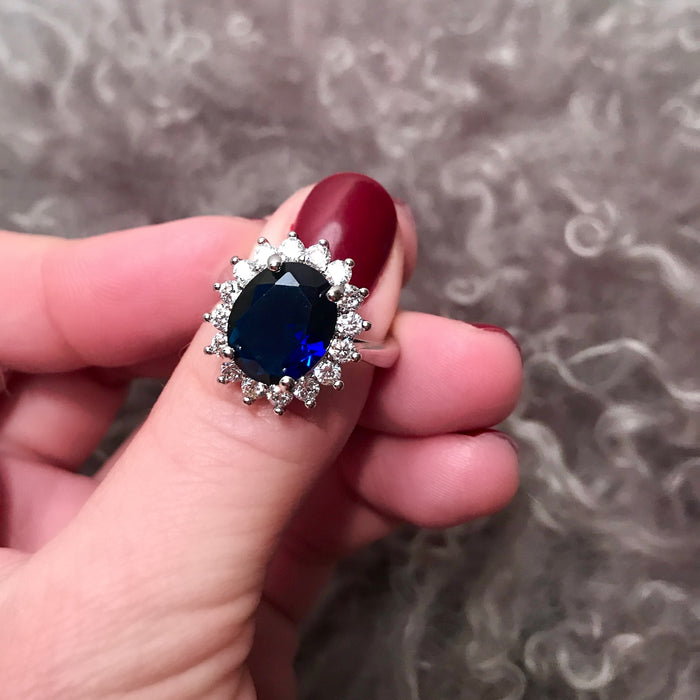 Royal Wedding Blue Sapphire Ring