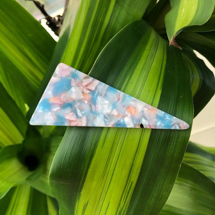 Triangle Alligator Clip - Cotton Candy
