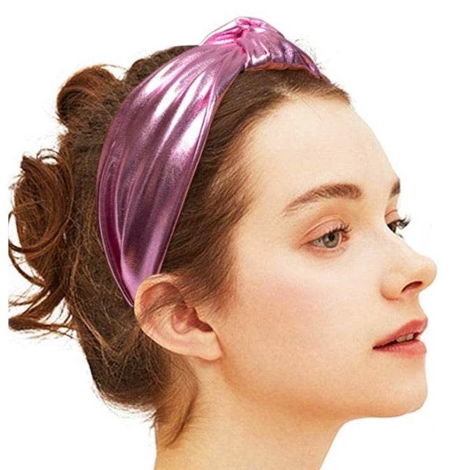 Pink Metallic Headband