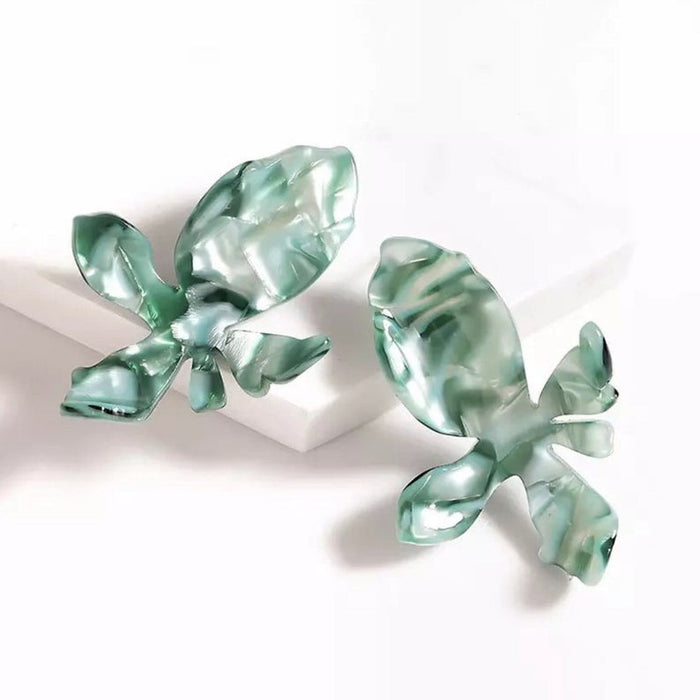 Mint Green Baby Lily Drop Earrings
