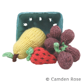 Knitted Strawberry, Grapes & Pear