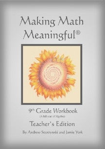 Making Math Meaningful: 9th Grade Workbook, Teacher's Edition