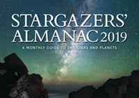 Stargazers' Almanac 2019 A Monthly Guide to the Stars and Planets by Bob Mizon