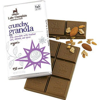 Organic Chocolate Bar, Milk Crunchy Granola