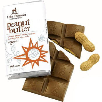 Organic Chocolate Bar, Milk Peanut Butter