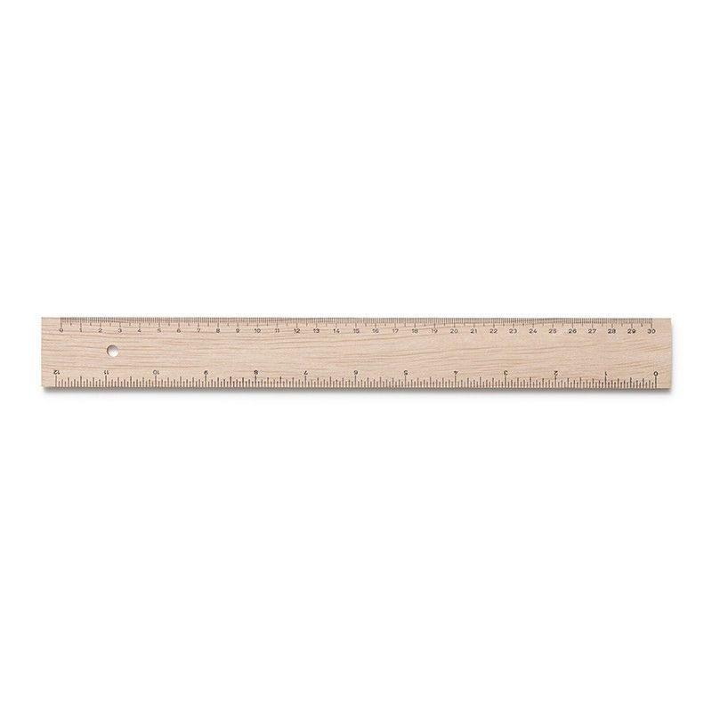 Wooden Ruler- Inches and cms