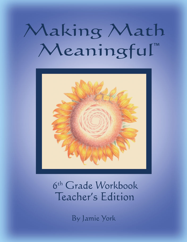 Making Math Meaningful: A 6th Grade Workbook Teacher's Edition, by Jamie York