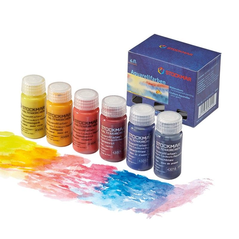 Stockmar Watercolor Paint 20 mL Basic Set-Box 6 Assorted