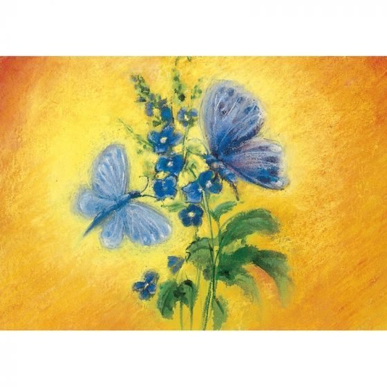 Postcard - Blue Butterflies