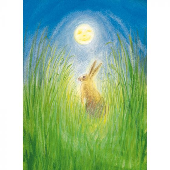 Postcard - Hare and Moon