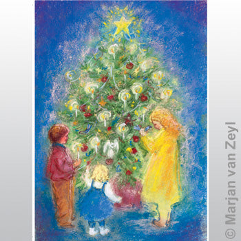 Postcard- Around the Christmastree