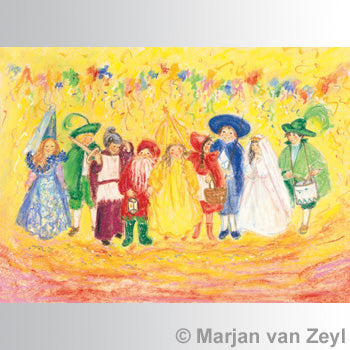 Postcard- Kindercarnaval/Childrenscarnival