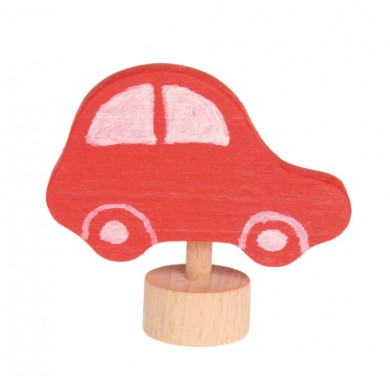 Birthday Ring Decorative Figure Red Car