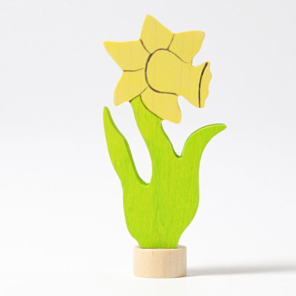 Birthday Ring Decorative Figure Daffodil