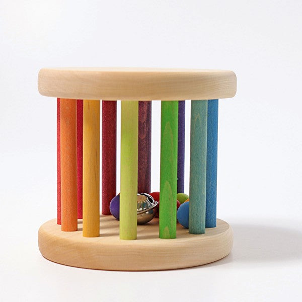 Wooden Rainbow Rolling Wheel