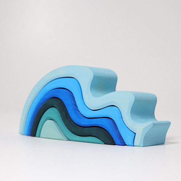 Waterwaves Wooden Stacking Puzzle
