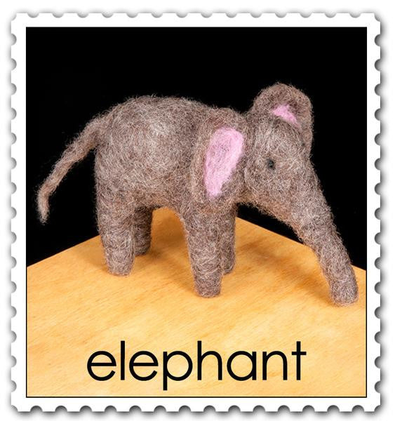 Needle Felting Kit: Elephant
