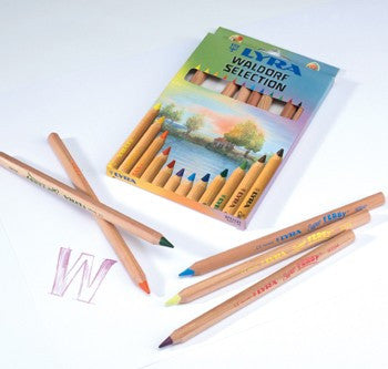 Lyra Colored Pencils, Set of 12 - Waldorf Selection