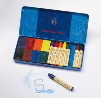 Stockmar Beeswax Crayon Set - Stick and Block Combo