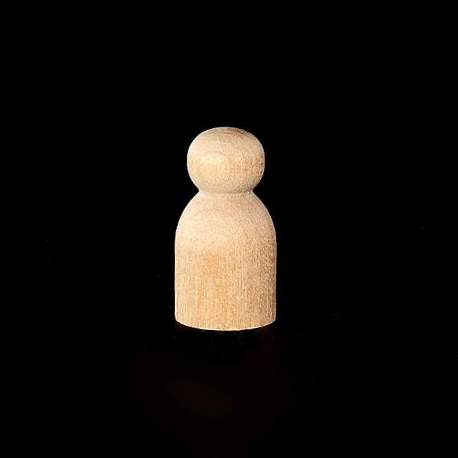 "Peg Doll, Small  1-3/16"" Tall x 5/8"" Diameter"