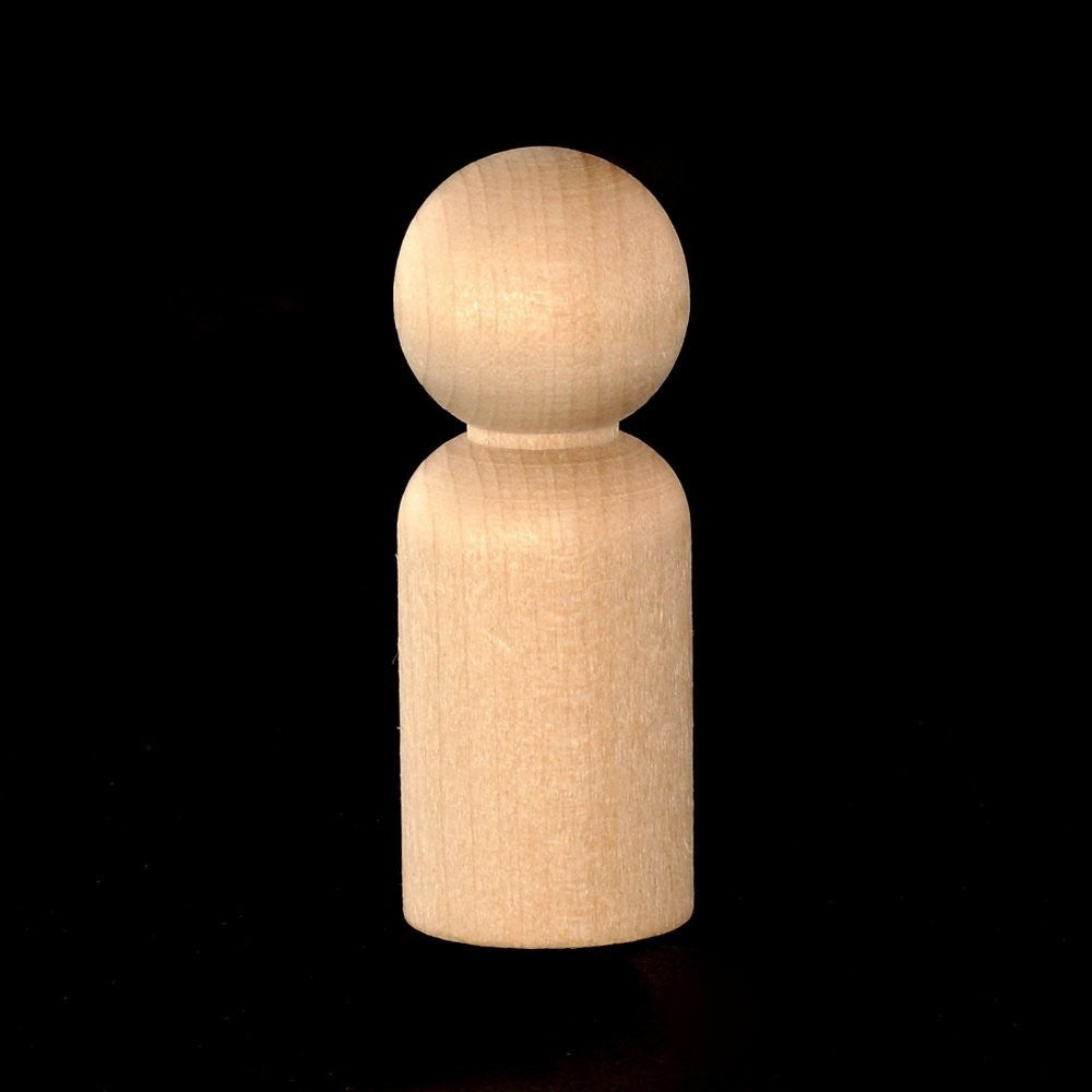 "Peg Doll, Large 2-3/8"" Tall x 7/8"" Diameter"