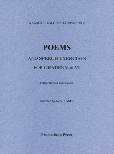 Poems and Speech Exercises for Grades V and VI