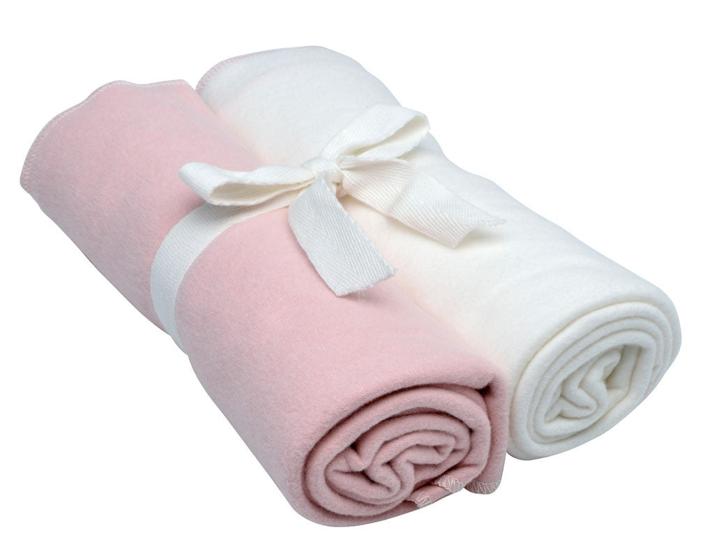Swaddle Blanket 2pk, Pale Pink
