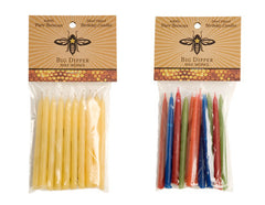 Beeswax Candles, Birthday Tapers