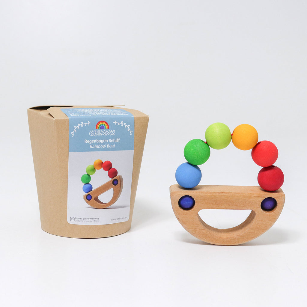 Rainbow Boat- Grasping Toy
