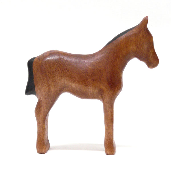 Wooden Foal- Reddish Brown