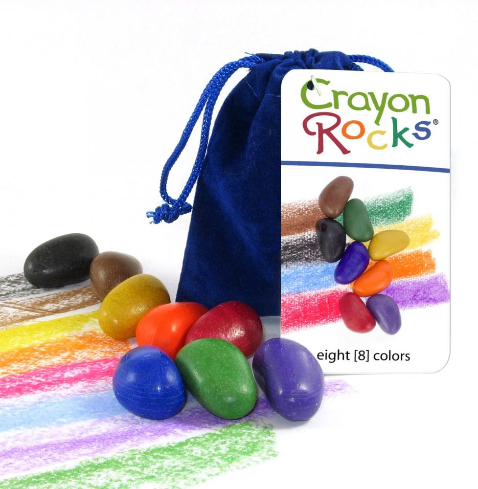 Crayon Rock Set of 8 Blue Velvet