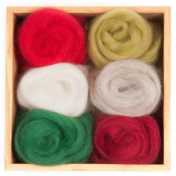 Wool Roving 6-pack, Holiday