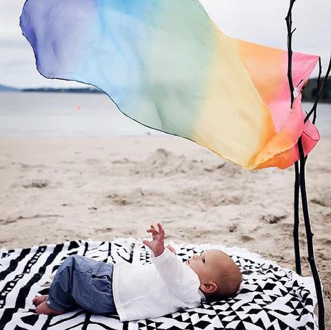 Silk Playcloth, Rainbow 35""