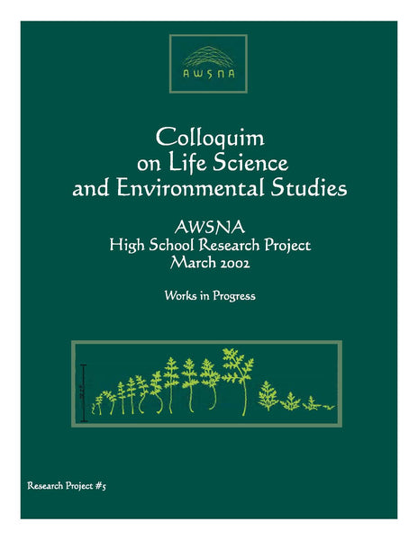 Colloquium on Life Science and Environmental Studies