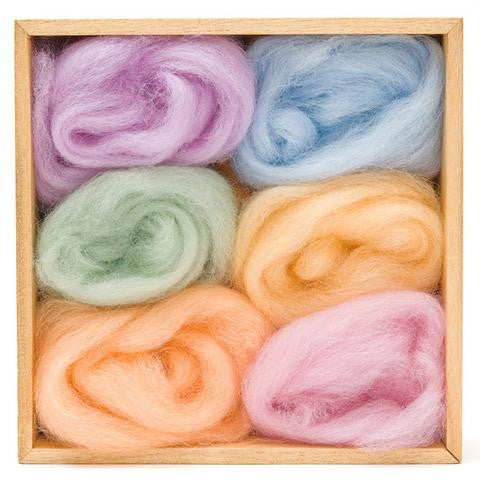 Wool Roving 6-pack, Spring