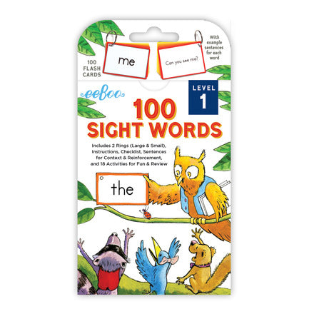 100 Sight Words Cards Level 1