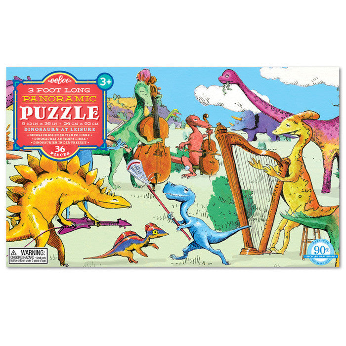 Dinosaurs at Leisure 36pc Long Puzzle