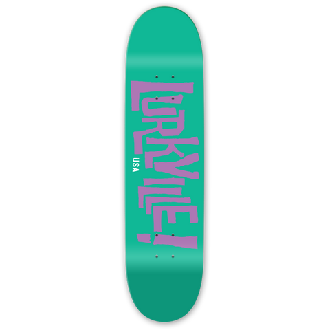 "Logo Deck Teal / Purple 8.25"" x 31.5"""