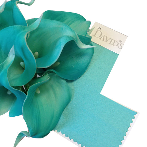 USA-10pc bundle-Spa Aqua green Real touch calla lily