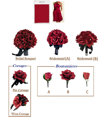 Apple Red and Black Theme - Pick Your Flowers!
