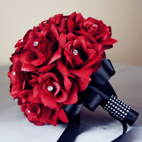 Red Roses Wedding Bouquets.9 Bouquet Pick Colors