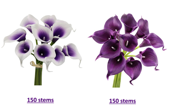 Wholesale Lot-300 Stems of real touch feel artificial calla lily - Angel Isabella