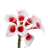 BIG SALE-10 stems Eco-friendly Real touch calla lily-perfect for DIY bouquet corsage boutonniere centerpiece wreath