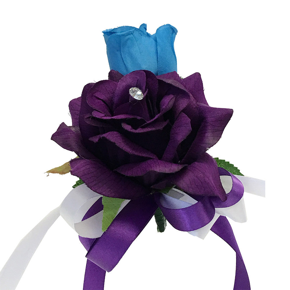 Colorful Artificial Flower Wedding Bouquet Corsage Pin Corsage