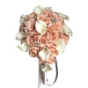 Blush Pink, White, and Silver Teardrop Bouquet - Angel Isabella