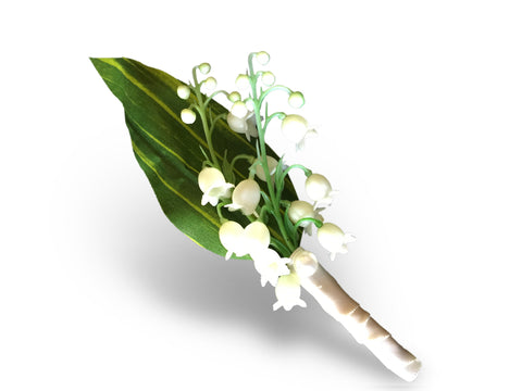 Boutonniere - Elegant Lily of the Valley Boutonniere