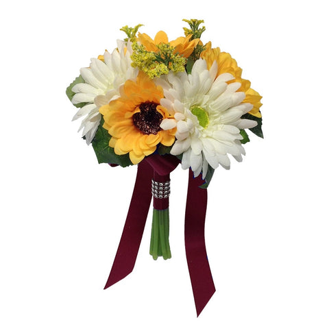 "7.5"" Bouquet-Sunflowers and Daisy"