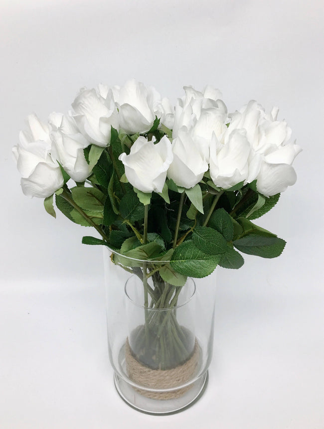 Pack of 2 Dozens-Real touch rose stems - Angel Isabella