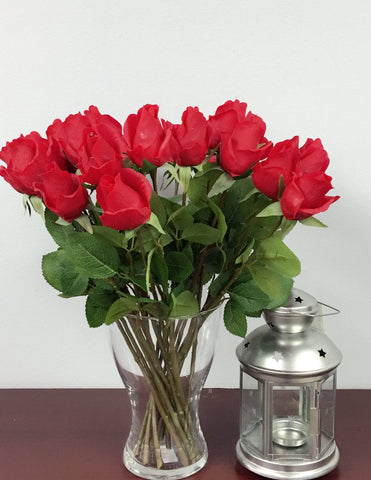 Pack of 2 Dozens-Real touch rose stems