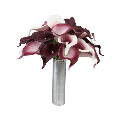 Calla Lily Bouquet-Wine Burgundy